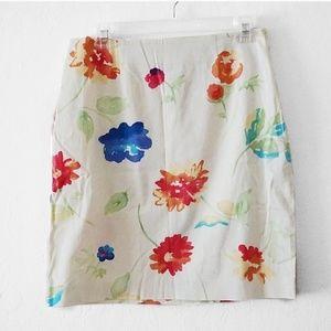 Talbots | Petites Floral Pencil Skirt